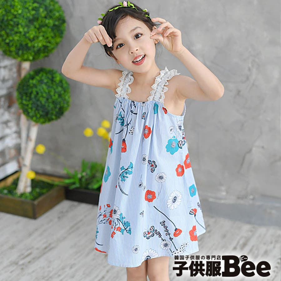 a38fb0e896967 韓国子供服◇kyscle-s キャミワピース◇袖なしワンピース ノースリーブ ...