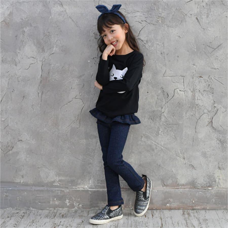 韓国子供服Bee デニムレギパン 女の子 9