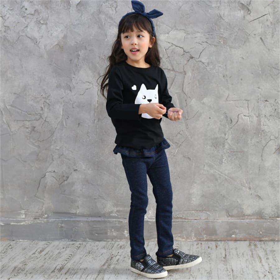 韓国子供服Bee デニムレギパン 女の子 10