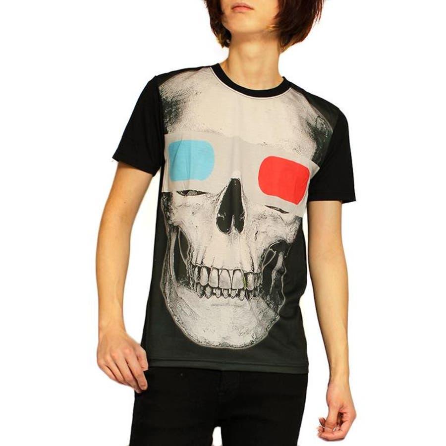 この値段でこの品質は良い メンズファッション通販Tシャツ メンズ スカル プリント クルーネック 半袖Tシャツ カットソー メンズ ユニセックス ブラックSPACE9 スペース9シャツ プリントTシャツ おしゃれ レディース ブランド おすすめ 汽笛