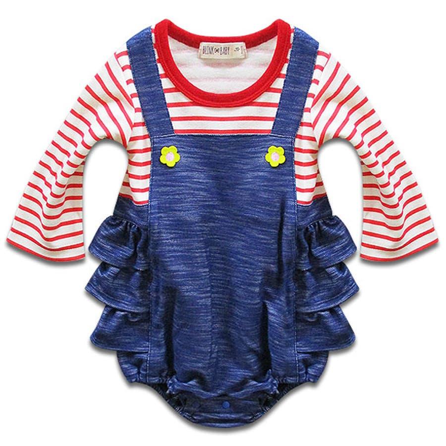 韓国子供服 女の子 長袖カバーオール韓国子供服70cm 2