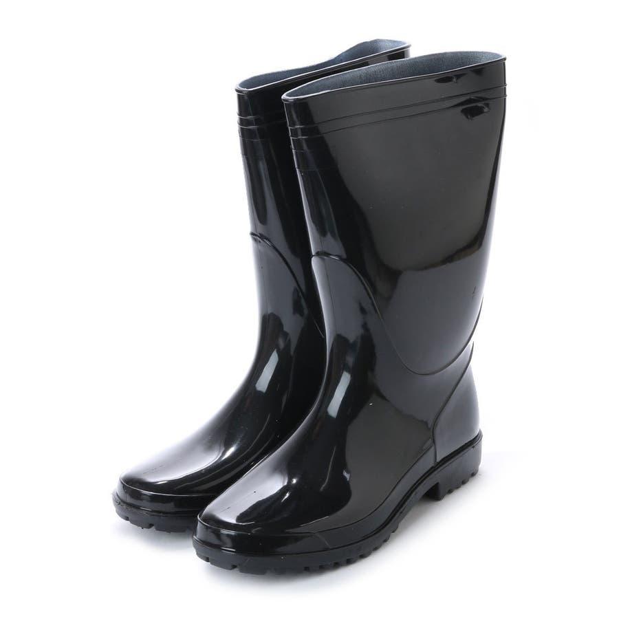 作業用 黒 長靴 PVC軽半長靴 メンズ 紳士 農作業 ロング ロングレインブーツ ラバーブーツ ラバー ロングブーツ ブラックkp_16049 1