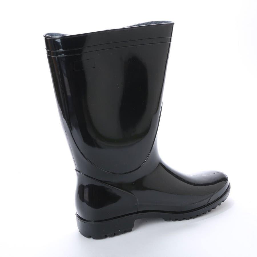 作業用 黒 長靴 PVC軽半長靴 メンズ 紳士 農作業 ロング ロングレインブーツ ラバーブーツ ラバー ロングブーツ ブラックkp_16049 4
