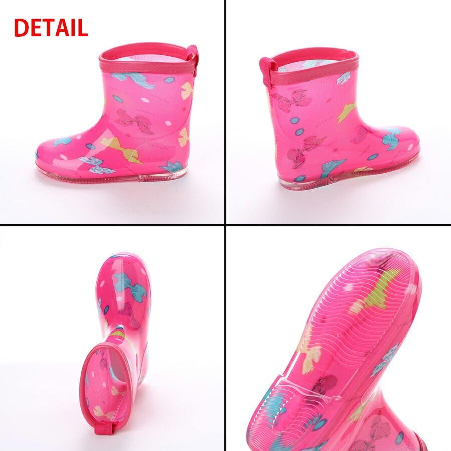 長靴 子供用 幼児用 レインブーツ かわいい レインシューズ 子供 ベビー キッズ 子供靴 雨靴 ながくつ ながぐつ ( 15 1617 18 19 cm) 4