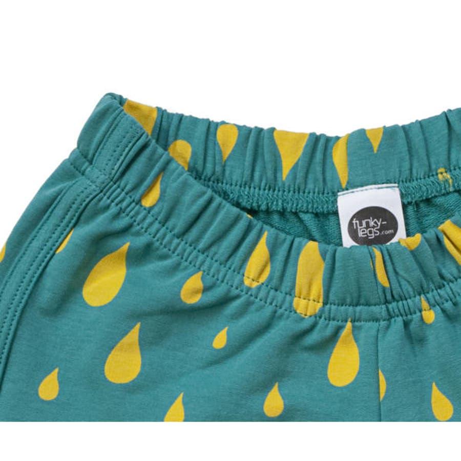 ファンキーレッグス FunkyLegs イスラエルブランド 雨粒柄 ショーツ レインドロップ ショーツ 雨粒柄ショートパンツレインドロップ ショートパンツ 3