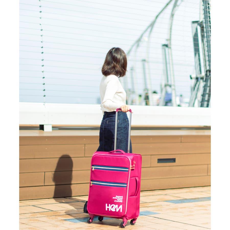 HeM(ヘム) 超軽量スーツケース リーベ Mサイズ 87
