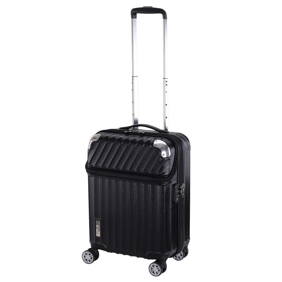 【TRAVELIST】モーメント 機内持ち込みサイズ 拡張機能付トップオープン ジッパースーツケース 22