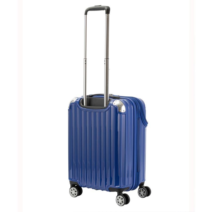 【TRAVELIST】モーメント 機内持ち込みサイズ 拡張機能付トップオープン ジッパースーツケース 10