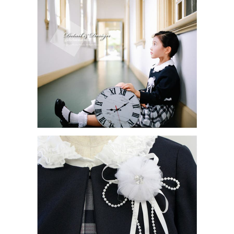 bc8ca2e661c3d 入学式 子供服 女の子 スーツ Hiromichi Nakano 363206007 ブラック ...