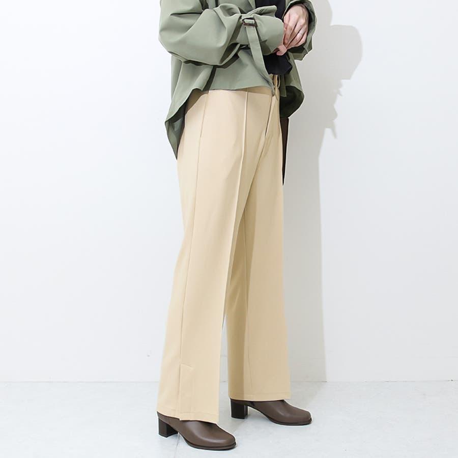サイドベンツパンツ /サイドスリット センタープレス パンツ 18