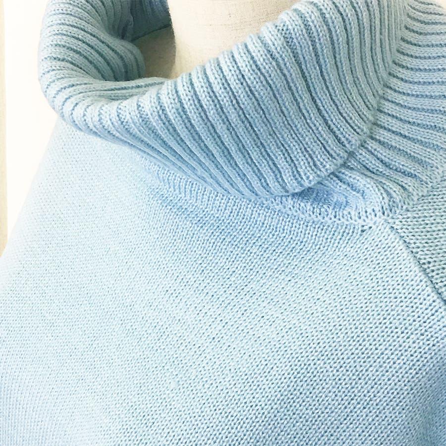 ハイネックセーター/トップス/アクリル/レディースファッション通販/大きいサイズ/かわいい/萌え袖仕様【2017春物・新作】 5