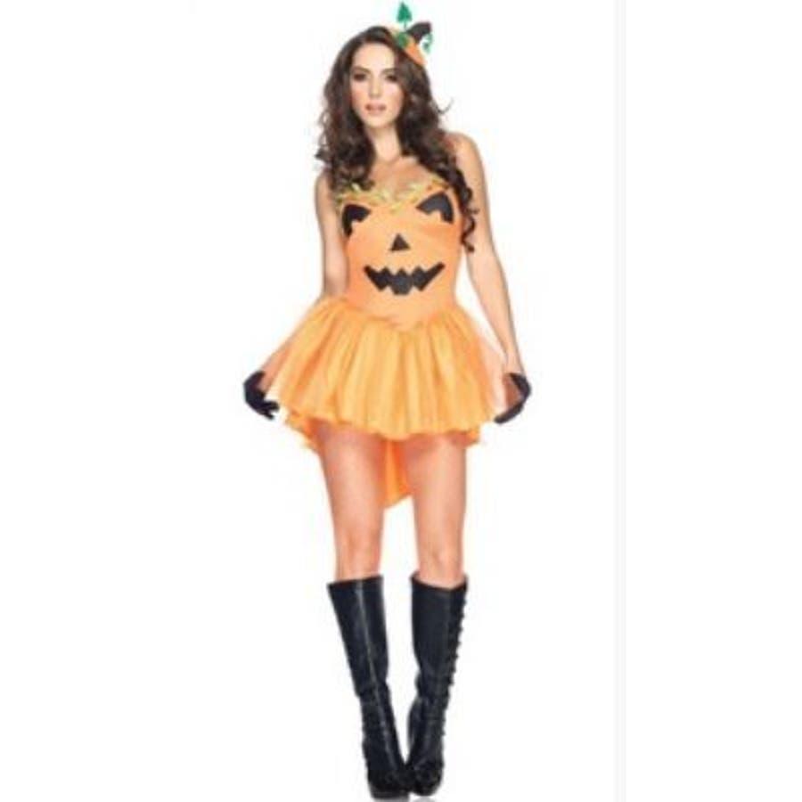 【ハロウィン】コスプレ/ハロウイン/レディース/衣装/キャラクター/セクシーかぼちゃワンピース 2