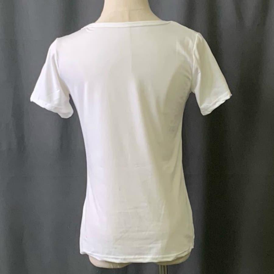 Tシャツ トップス ロゴT カットソー 白シャツ レディース 半袖 ゆったり 大きいサイズ 2019 春夏新作 体型カバー おしゃれ 4