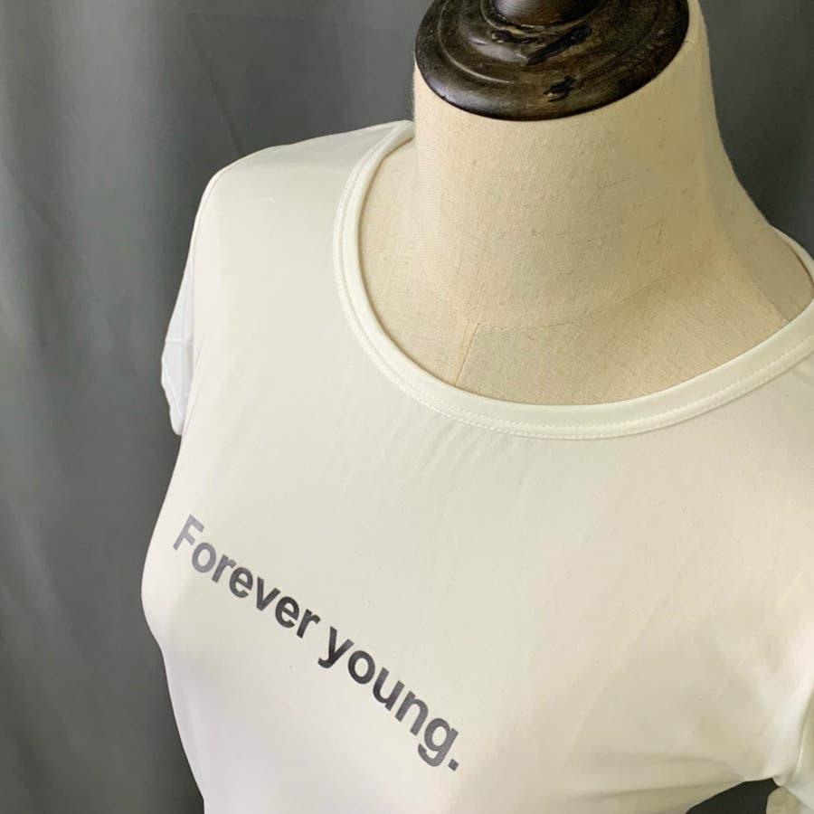 Tシャツ トップス ロゴT カットソー 白シャツ レディース 半袖 ゆったり 大きいサイズ 2019 春夏新作 体型カバー おしゃれ 5