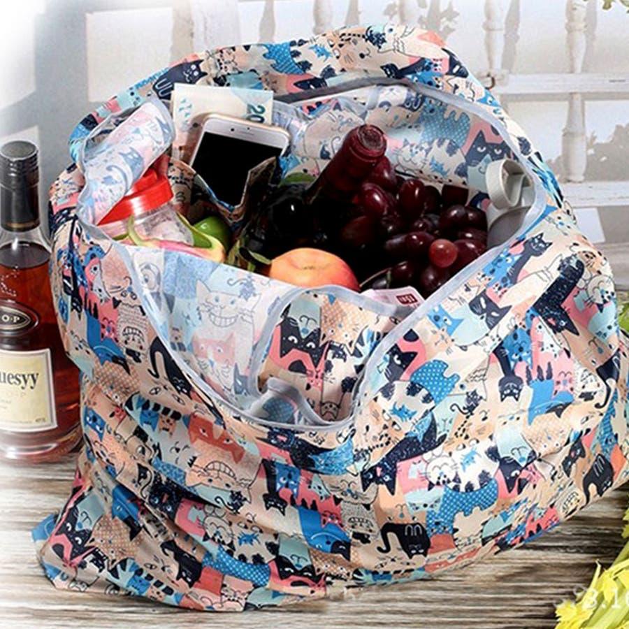 エコバック トートバッグ 折りたたみ 折り畳み ナイロン レジカゴ ショッピングバッグ 大容量 かわいい 2019 夏新作 9