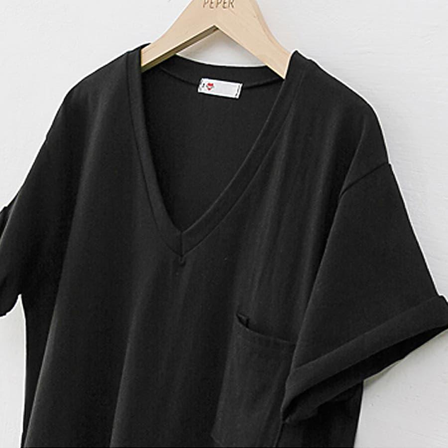 Tシャツ トップス ロゴT カットソー バックプリント レディース 半袖 ゆったり 大きいサイズ 2020 春夏新作 体型カバー 8