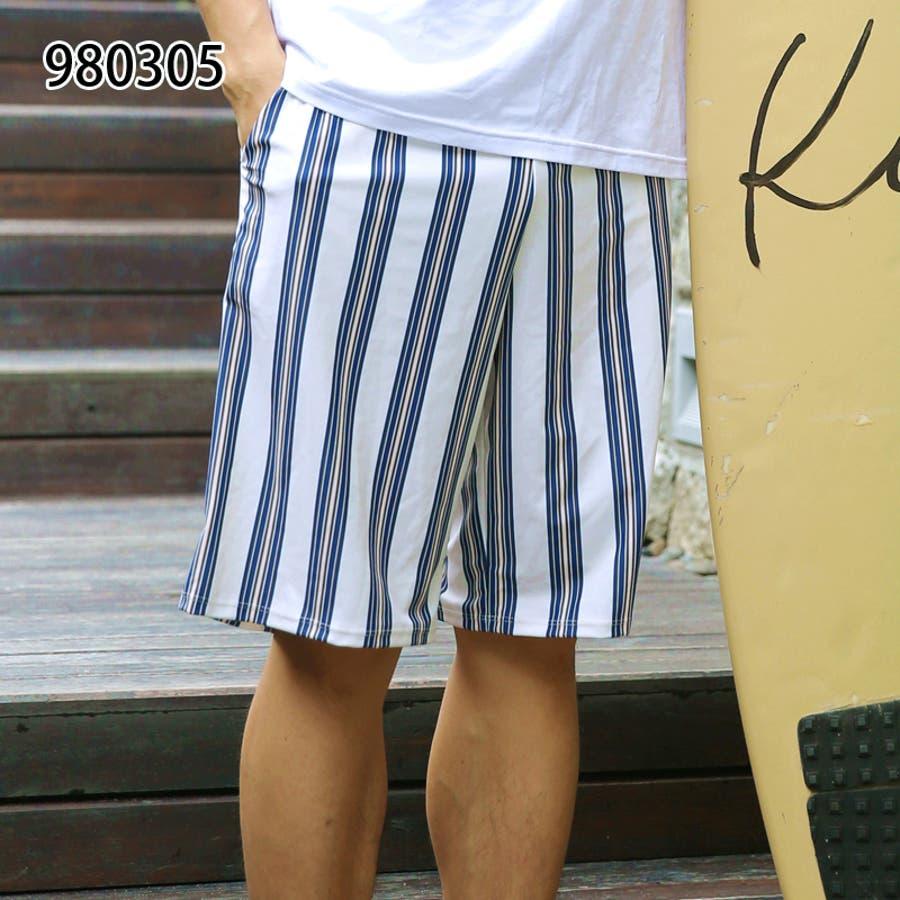 メンズファッション通販サーフパンツ メンズ 水着 ビーチ 海パン ハーフパンツ ボーダー カジュアル 薄手 海水パンツ オシャレメンズファッション 108