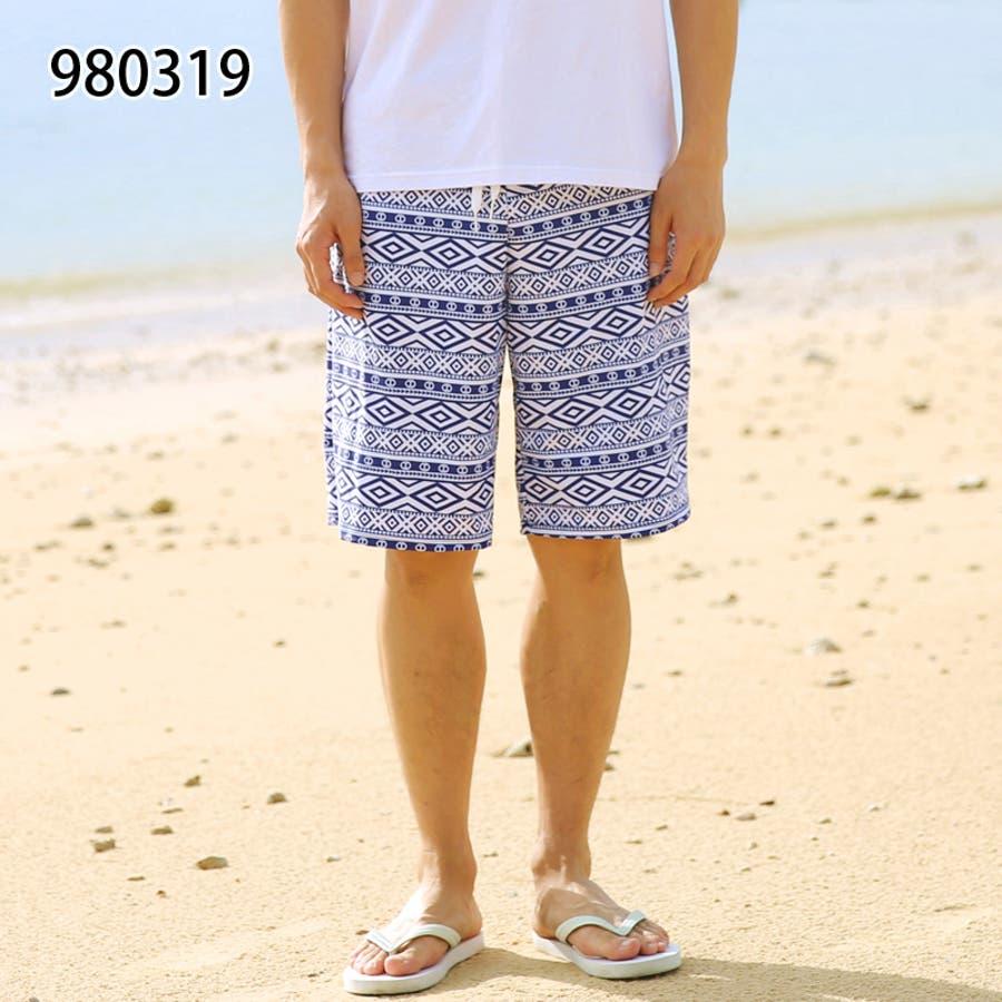 メンズファッション通販サーフパンツ メンズ 水着 ビーチ 海パン ハーフパンツ ボーダー カジュアル 薄手 海水パンツ オシャレメンズファッション 64