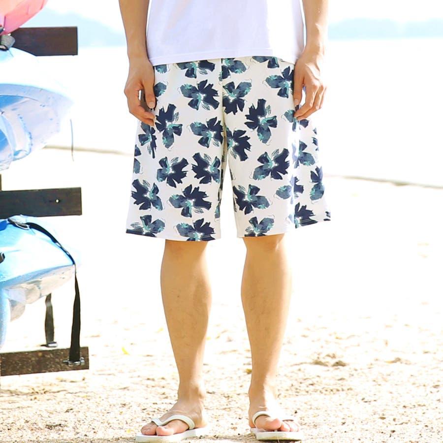メンズ水着メンズ水着パンツ サーフパンツ メンズ ハーフパンツ メンズ 水着 海パン スイムショーツ メンズ ショートパンツビーチショーツ ボーダー 無地 迷彩 花柄 アロハ M L XL 春物 春服 夏物 夏服 秋物 秋服 メンズファッション パンツ 16