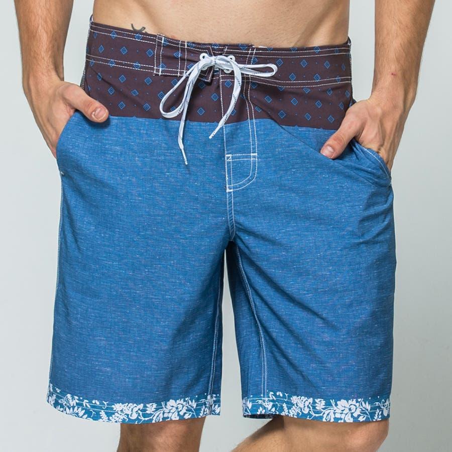 LEISURE SPORT(レジャースポーツ) サーフパンツ メンズ 海パン 海水パンツ サーフショーツ 水着 男性用 海水浴大きいサイズ 旅行 ビーチショーツ スイムショーツ ショートパンツ ハーフパンツ 短パン パンツ ls17011 40