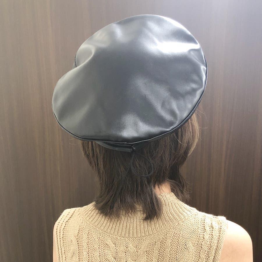 合皮ベレー帽 レディース 帽子 5