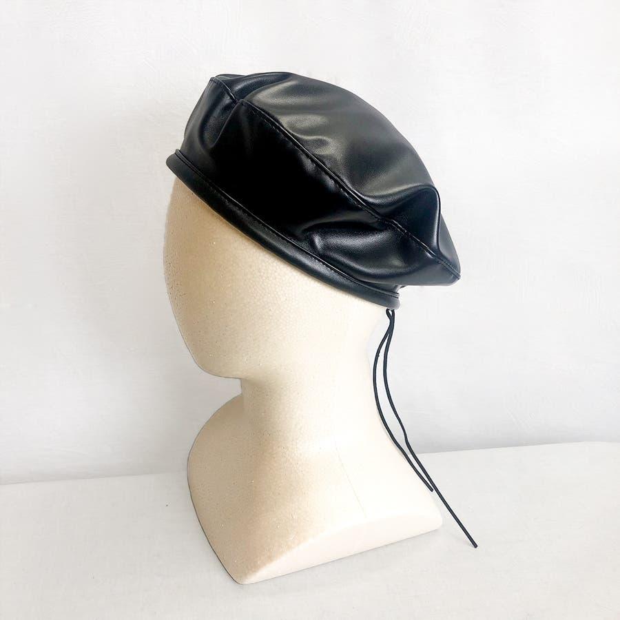 合皮ベレー帽 レディース 帽子 3