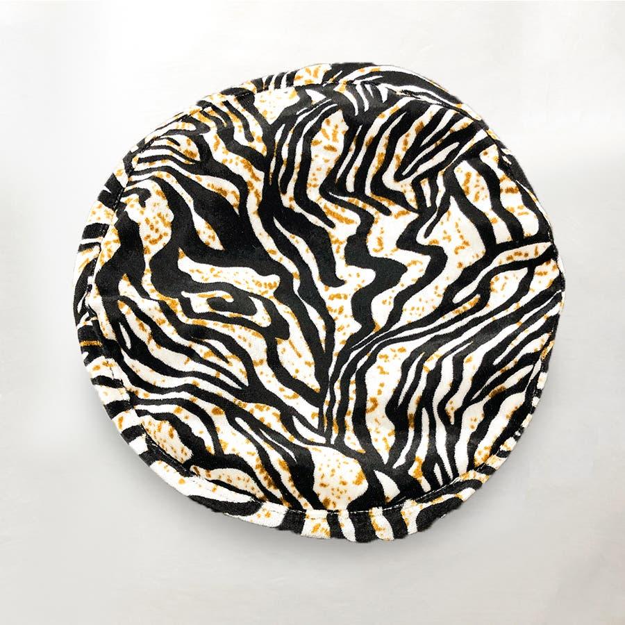 ゼブラ柄ベレー帽 4