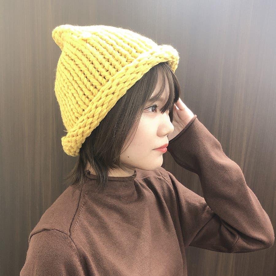 カラフルビッグニット帽 10