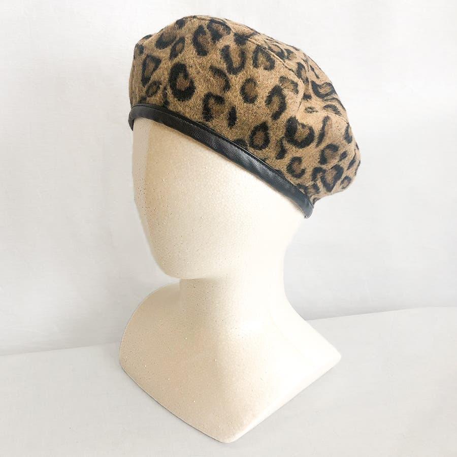 ヒョウ柄ベレー帽 29