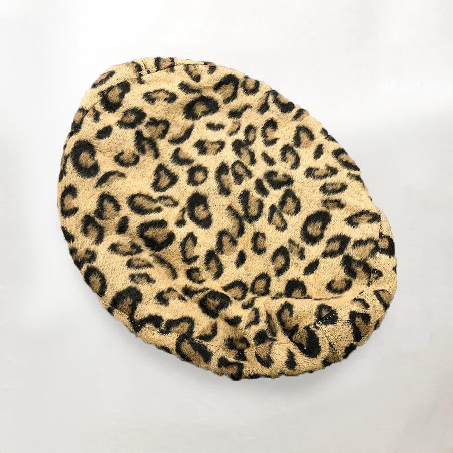 ヒョウ柄ベレー帽 5