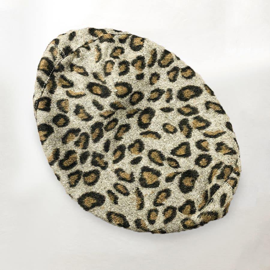 ヒョウ柄ベレー帽 6