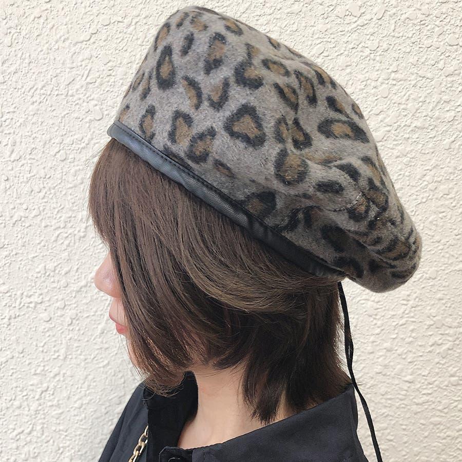 ヒョウ柄ベレー帽 8