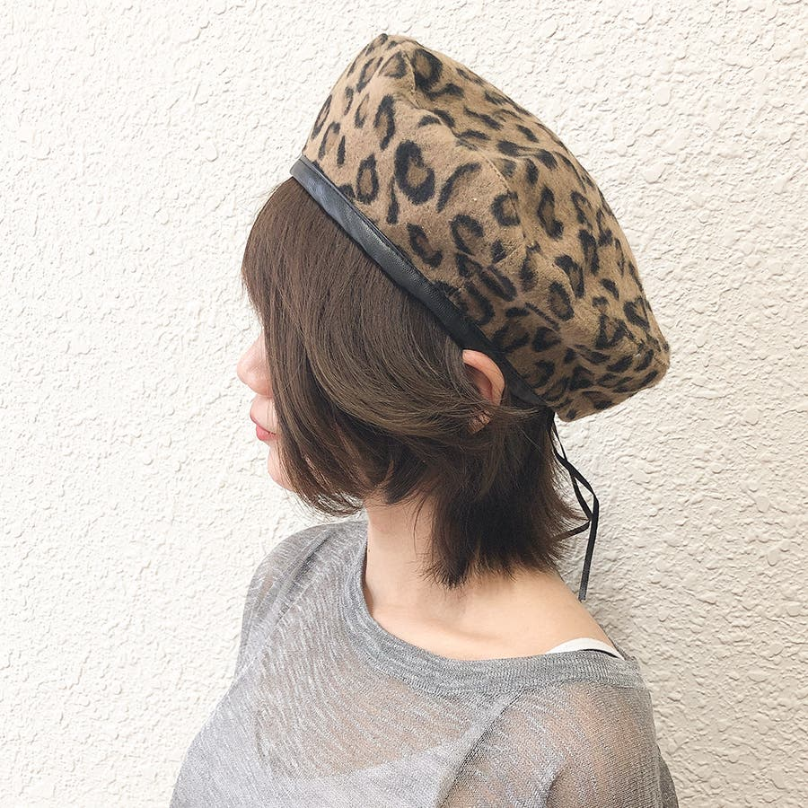 ヒョウ柄ベレー帽 7