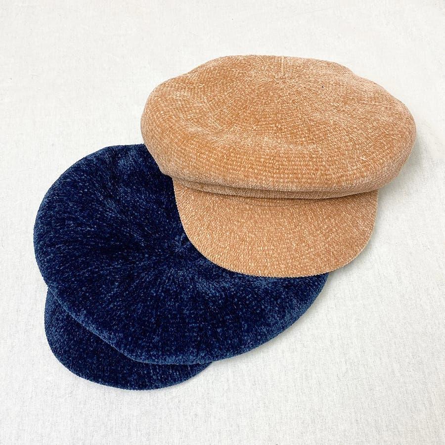 もこもこキャスケット帽 2