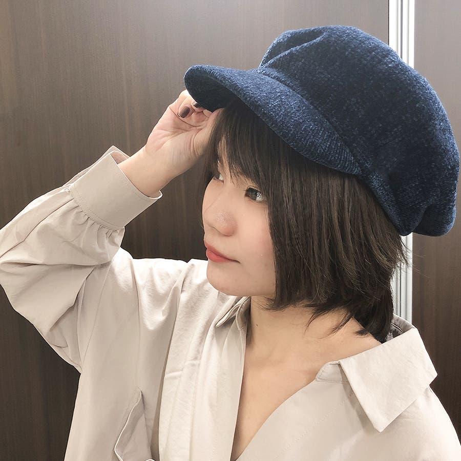 もこもこキャスケット帽 7