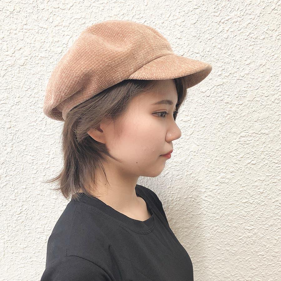もこもこキャスケット帽 8