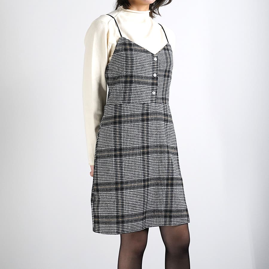 肩紐ジャンパースカート ワンピース ジャンスカ 3
