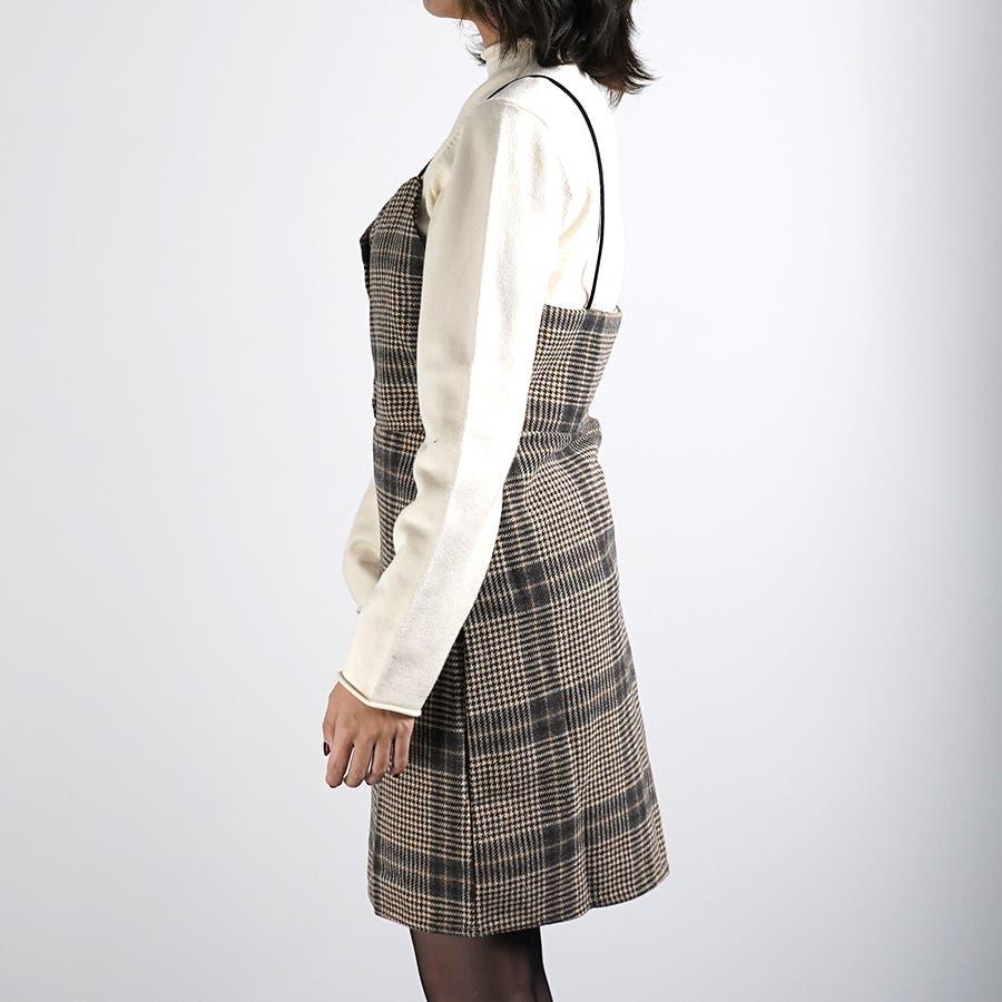 肩紐ジャンパースカート ワンピース ジャンスカ 9