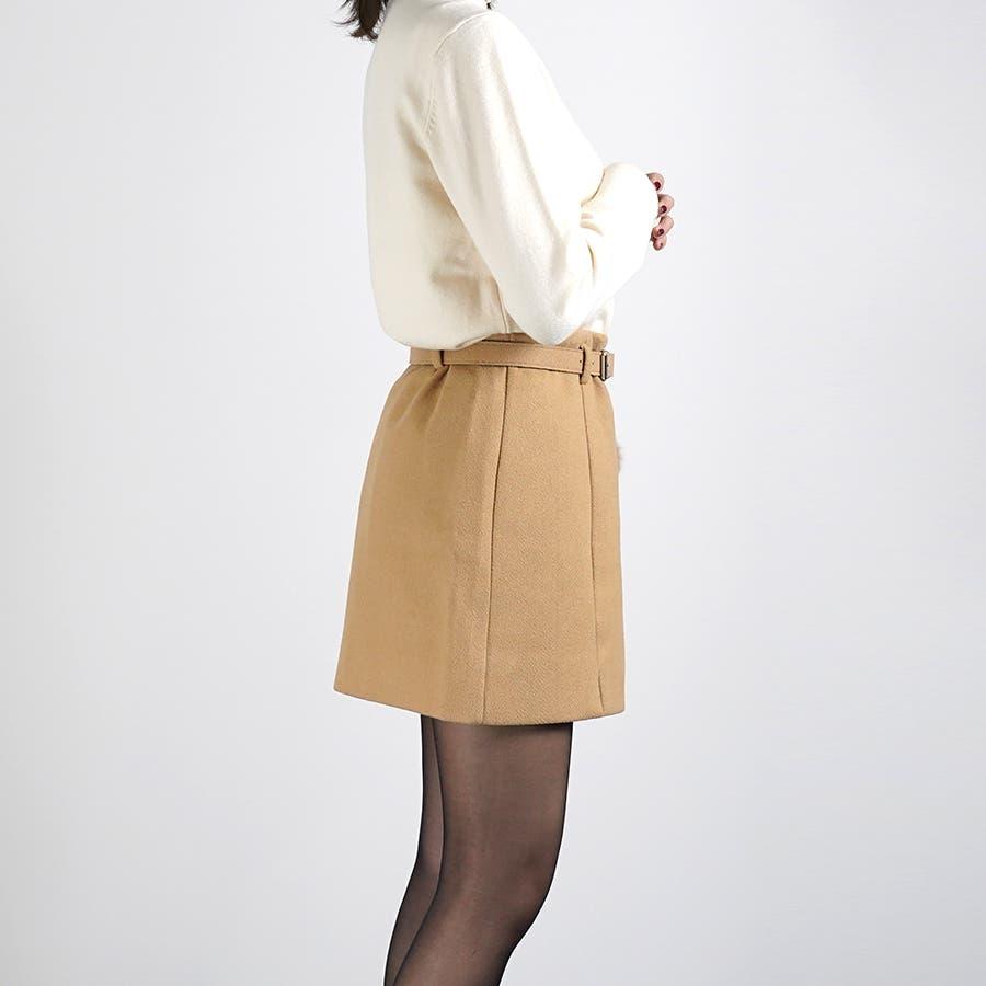 ベルト&ポンポン付ミニスカート 4