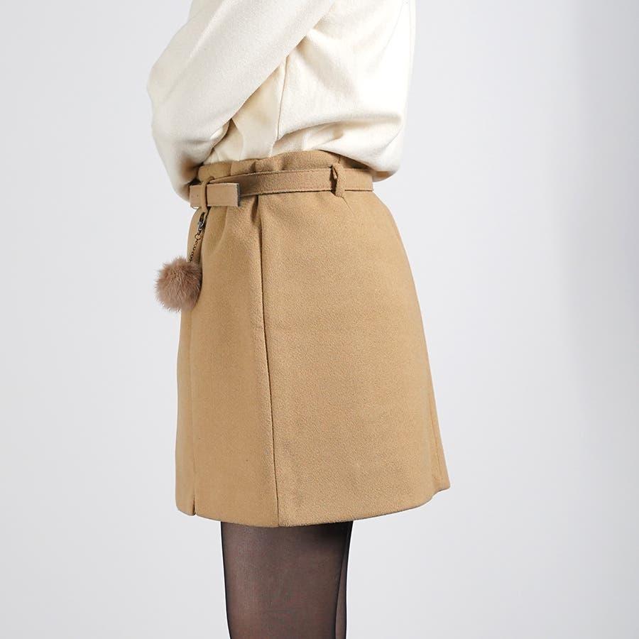 ベルト&ポンポン付ミニスカート 5