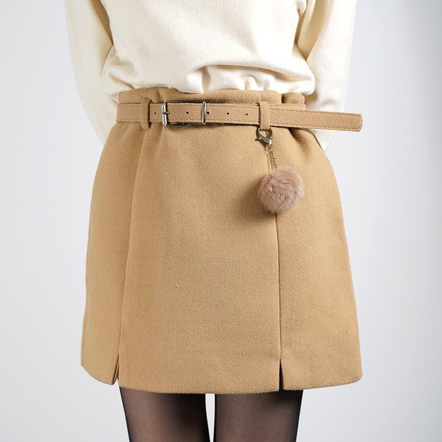ベルト&ポンポン付ミニスカート 8