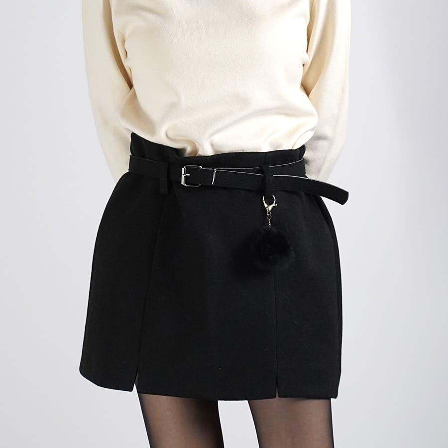 ベルト&ポンポン付ミニスカート 21