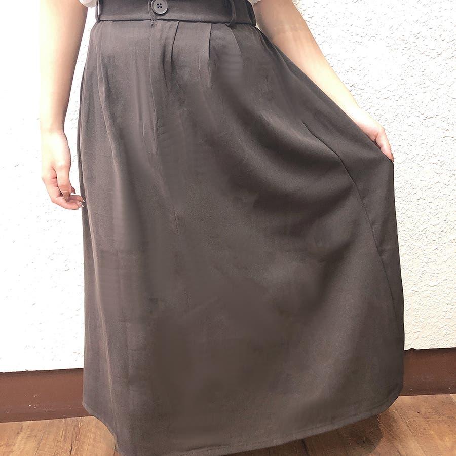 シンプルフレアスカート スカート レディース 2