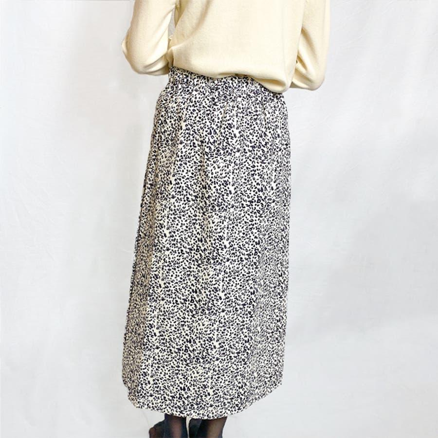 ヒョウ柄ロングスカート 6