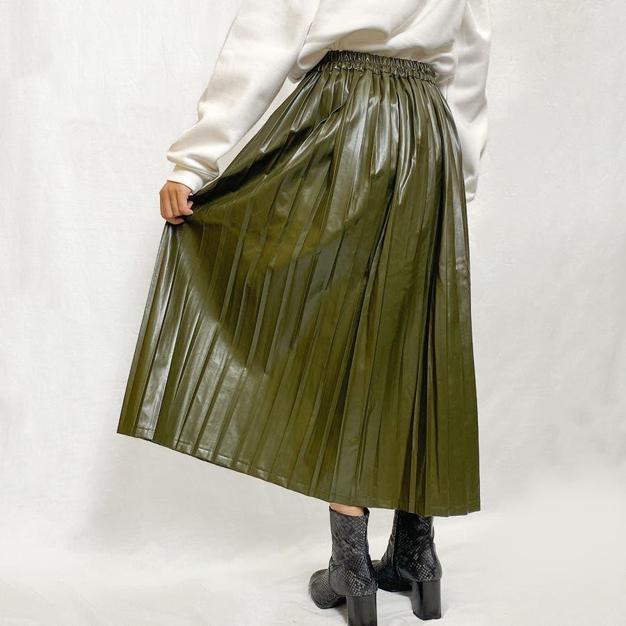 エコレザー プリーツスカート スカート 6