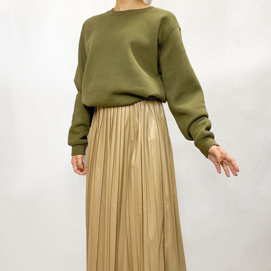 エコレザー プリーツスカート スカート 7