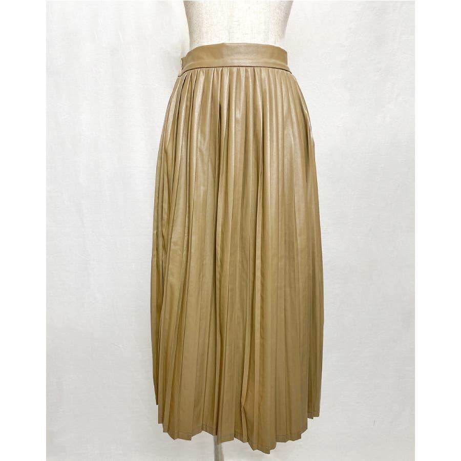 エコレザー プリーツスカート スカート 41