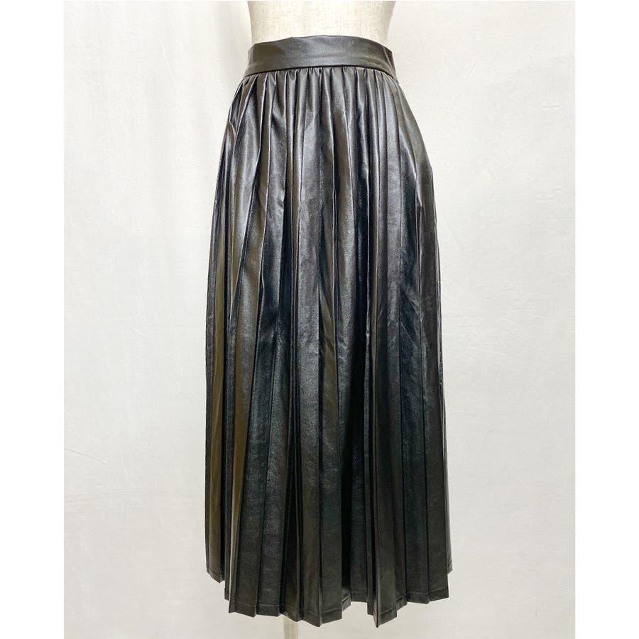 エコレザー プリーツスカート スカート 21