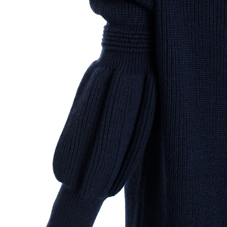 【MARTHA】ひょうたん袖ニットワンピース[16679] 9