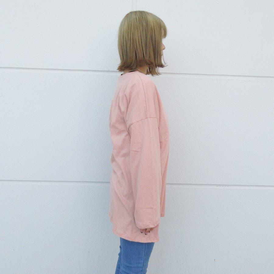 ロゴプリントロングTシャツ 6